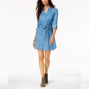 Style & Co Chambray Denim Shirt-dress